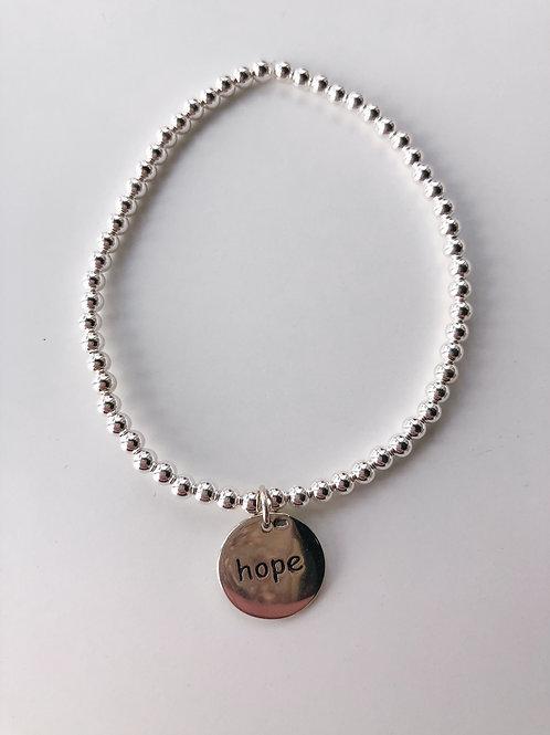 Jocelyn Kennedy Beaded Word Bracelet- Hope