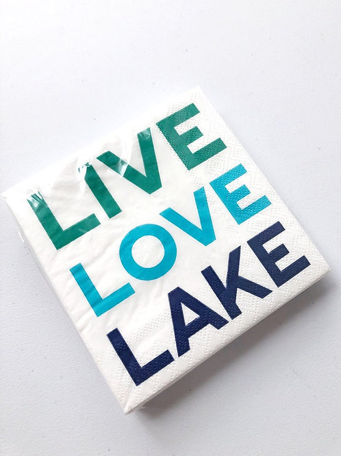 Live Love Lake Napkin