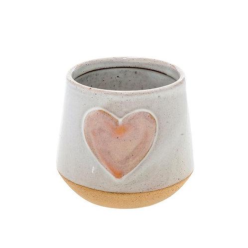 Indaba Small Heart Pot