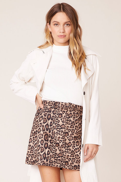 BB Dakota Power Animal Leopard Skirt
