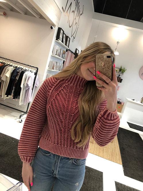 Free People Sweetheart Sweater in Sweetheart