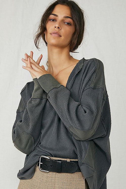 Free People Owen Thermal Blueberry