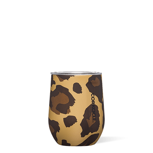 Corkcicle 12oz Luxe Leopard Stemless