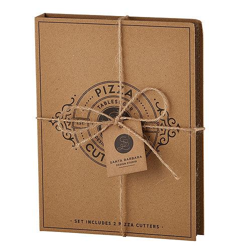 Cardboard Book Set-Pizza Cutter Set