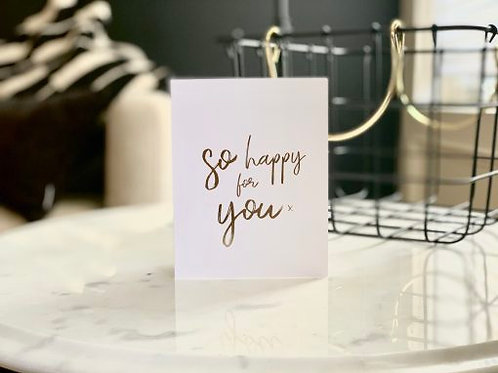 Wrinkle and Crease So Happy For You Card