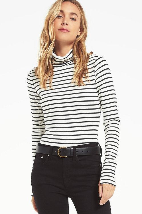 Z Supply Chloe Striped Rib Bodysuit
