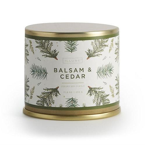 Illume Balsam & Cedar Large Tin