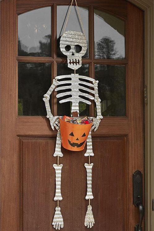 Skeleton Candy Bucket Door Hanger