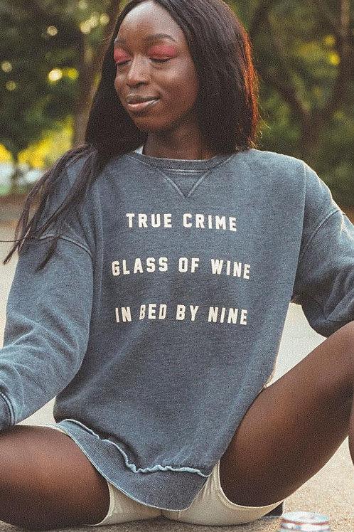 Friday + Saturday True Crime Campus Crewneck Sweatshirt