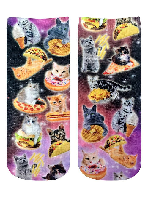 Living Royal Cat Cravings Ankle Socks