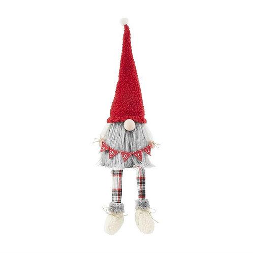 Mudpie Dangle Leg Gnome With Gnoel Banner