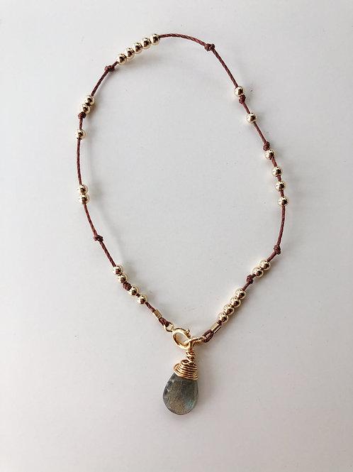 Jocelyn Kennedy Thread & Bead Bracelet- Labradorite