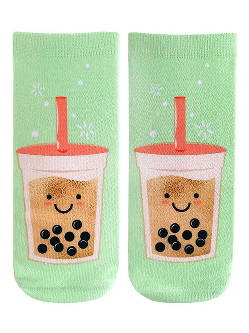 Living Royal Boba Tea Ankle Socks