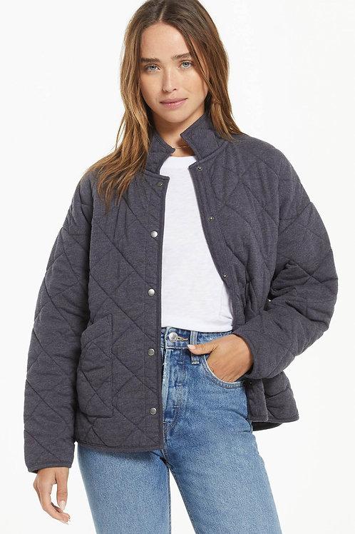 Z Supply Maya Quilted Jacket- Washed Black