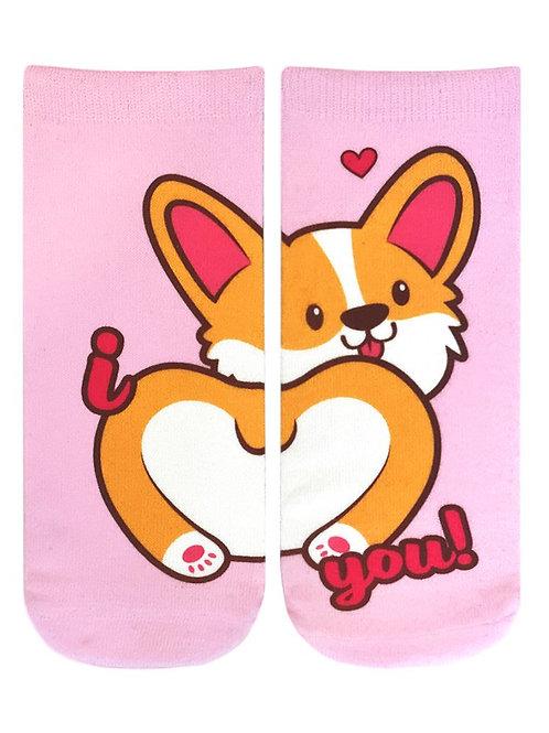 Living Royal Love Corgi Ankle Socks