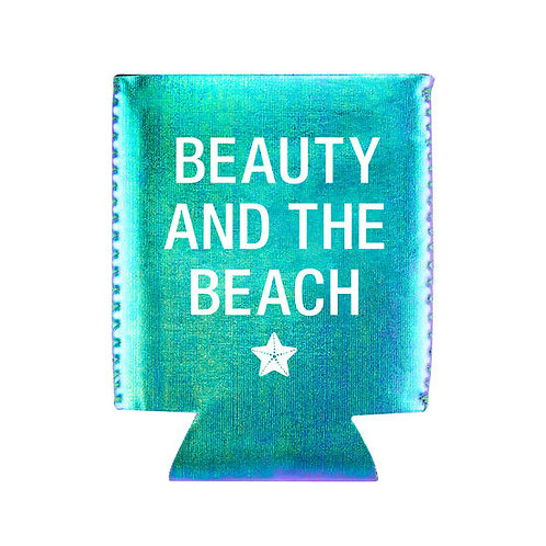 Beauty and the Beach Can Koozie