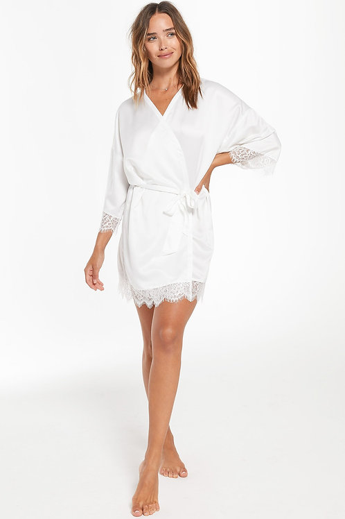 Z Supply Best Day Ever Robe Pearl White