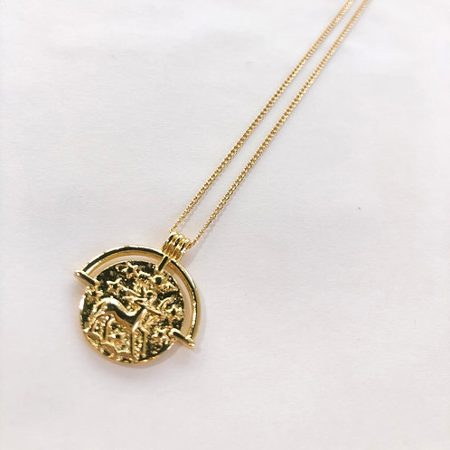 Jocelyn Kennedy Zodiac Sign Necklace- Gold Sagittarius