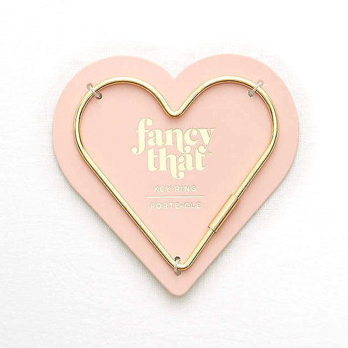 Fancy That Gold Heart Key Ring