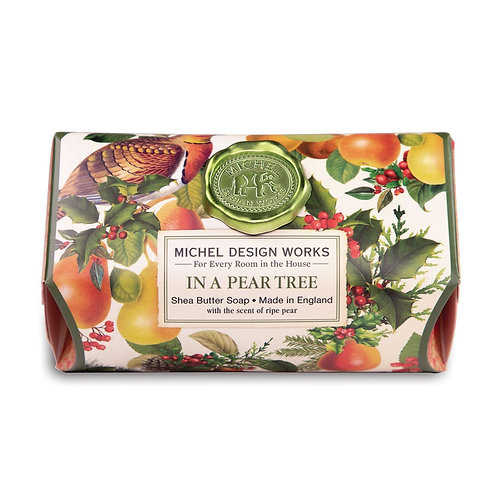 Michel Design Works In a Pear Tree Soap Bar