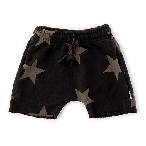 nununu Black Rounded Star Sweatshorts