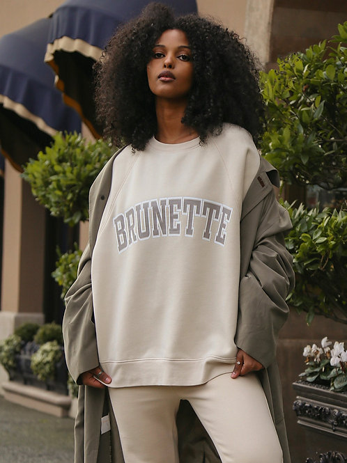 Brunette The Label Brunette Not Your Boyfriends Crew French Vanilla