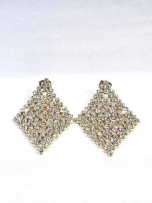 Jocelyn Kennedy Small Crystal Carpet Earrings