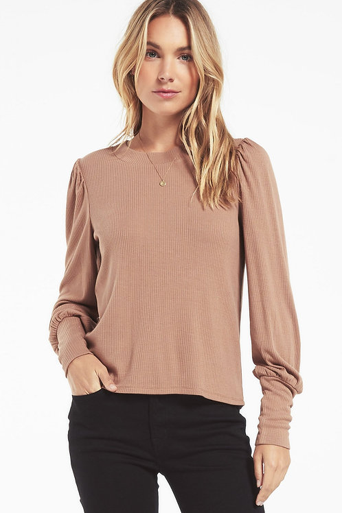 Z Supply Clemente Puff Sleeve Top Toast