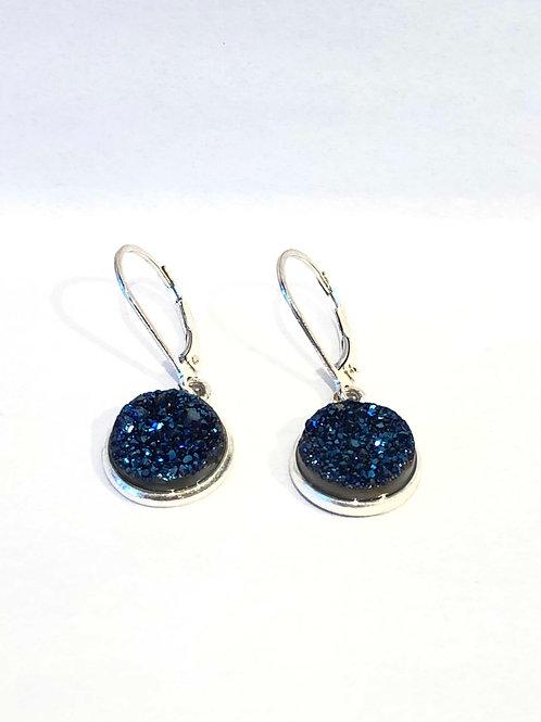 Jocelyn Kennedy Small Druzy Earrings