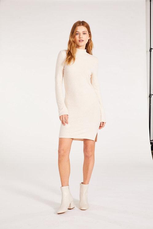 BB Dakota Talking Body Dress- Alabaster