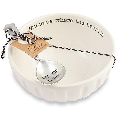 Mudpie Hummus Bowl & Spoon Set