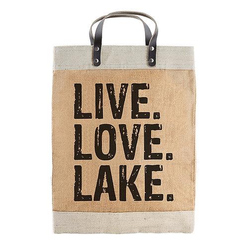 Market Tote Live Love Lake