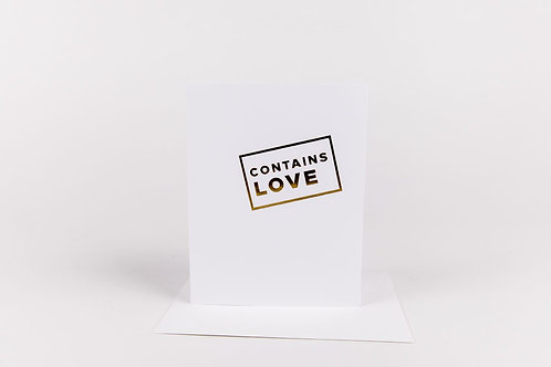 Contains Love Card