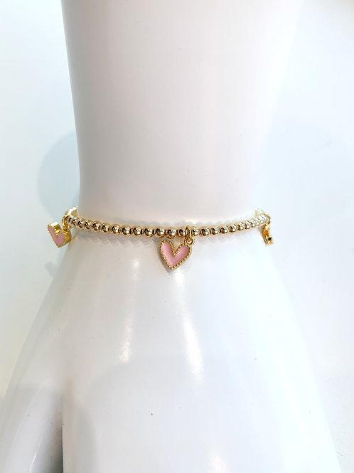 Jocelyn Kennedy Heart Charm Bracelet