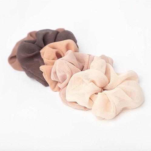 Kitsch Crepe Scrunchies 5 pack- Terra Cotta