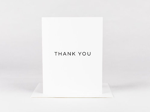 Wrinkle and Crease Thank You Card