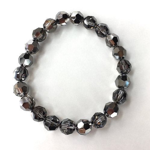 Jocelyn Kennedy Midnight Grey Crystal Bracelet
