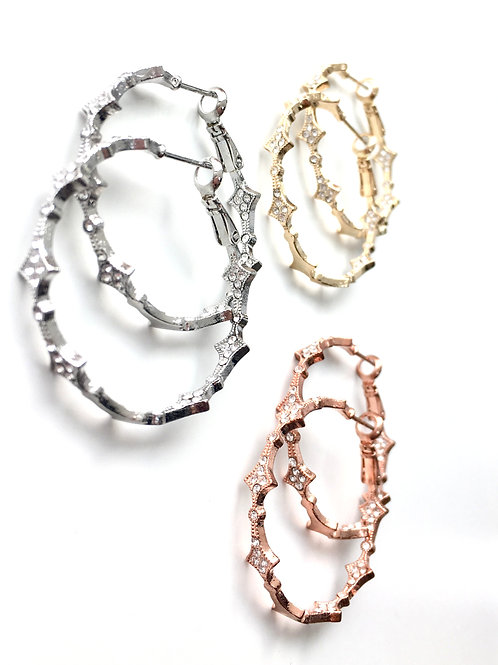 Jocelyn Kennedy Crystal Hoop Earrings