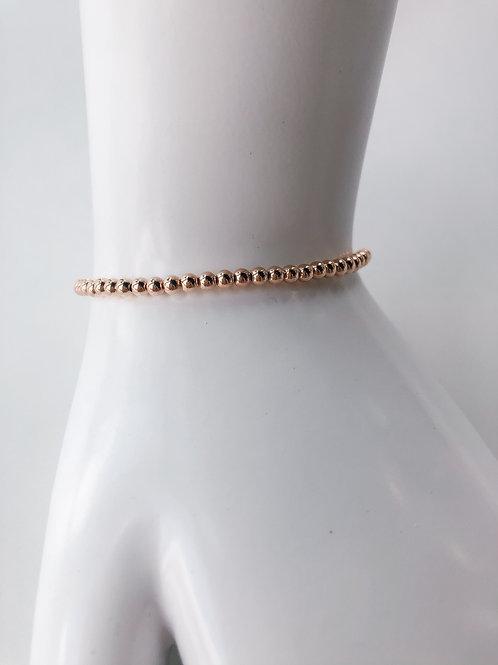 Jocelyn Kennedy Rose Gold Beaded Bracelet