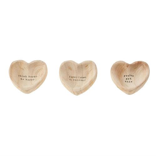 Mudpie Wood Heart Trinket Tray