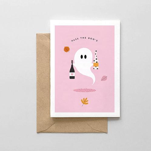Pass The Boo's - Halloween Card