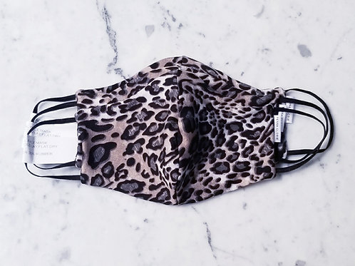 Tessa Glorie Ladies Face Mask Mocha Leopard