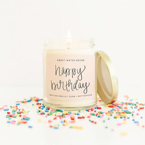 Sweet Water Decor Happy Birthday Candle