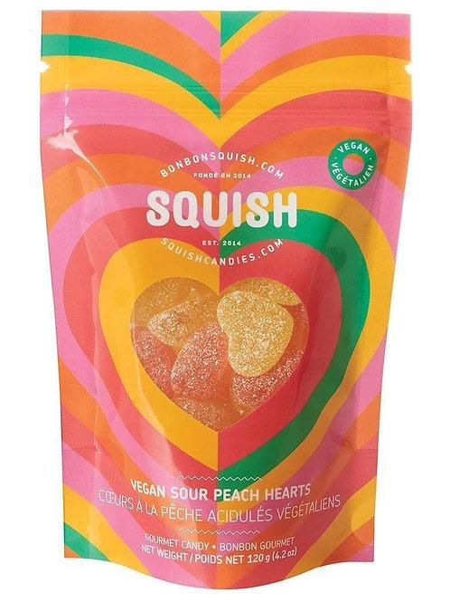 Squish Vegan Sour Peach Hearts