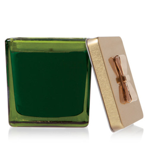 Thymes Frasier Fir Novelty Green Glass Gift Box Poured Candle