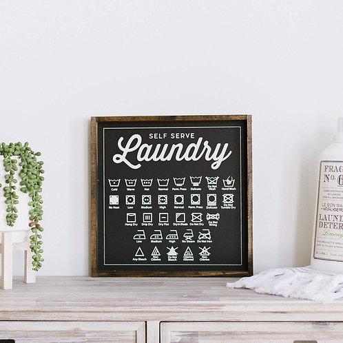 William Rae Designs Laundry Symbol Sign