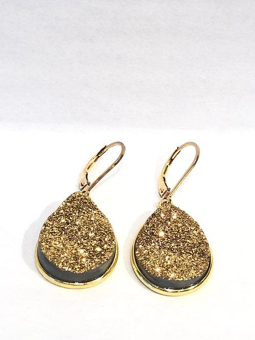 Jocelyn Kennedy Druzy Teardrop Earrings