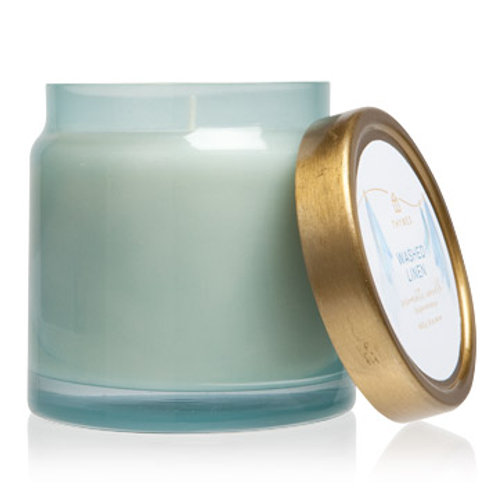 Thymes Washed Linen Statement Candle