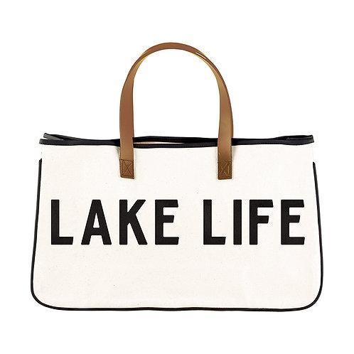 Lake Life Canvas Tote