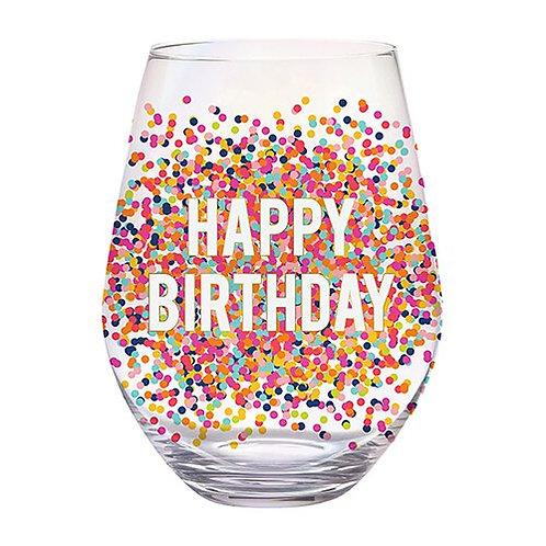 Jumbo Wine Glass- Happy Birthday